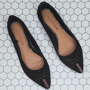 Rampage Caela embroidered flats